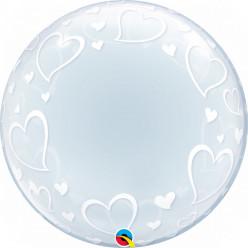Balão Deco Bubble Corações