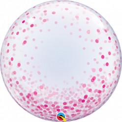 Balão Deco Bubble Pink Confetti Dots
