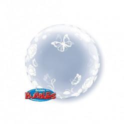Balão Deco Bubble Rosas e Borboletas