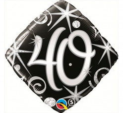 Balão Diamante 40 anos 46cm