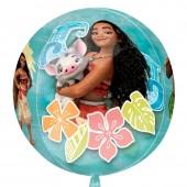 Balão Disney Vaiana Orbz 4 Faces