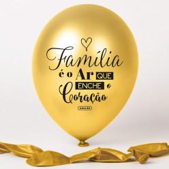Balão Dourado Família