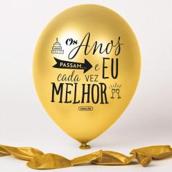 Balão Dourado Os Anos Passam