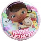 Balão Doutora Brinquedos Happy Birthday