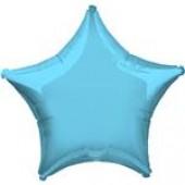 Balão Estrela Azul Claro Metalizado 45cm
