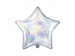 Balão Estrela Metálico Iridescente 48cm
