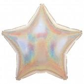 Balão Estrela Metalizado Glitter Prateado
