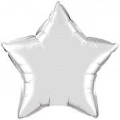 Balão Estrela Metalizado Prateado