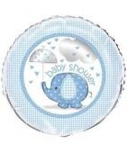 Balão Foil 2 faces Azul de Baby Shower