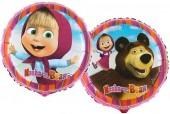 Balão Foil 2 faces de Masha e o Urso