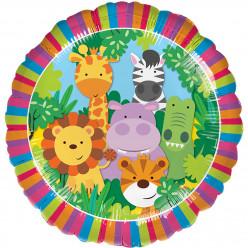 """Balão Foil Animais da Selva 18"""""""