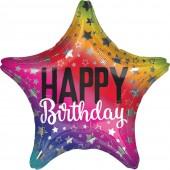 Balão Foil Arco-Íris Aniversário