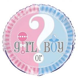 Balão Foil Baby Shower Boy or Girl?