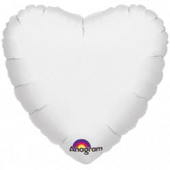 """Balão Foil Coração Branco 18"""""""