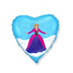 Balão Foil Coração Frozen Anna