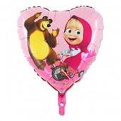Balão Foil Coração Masha