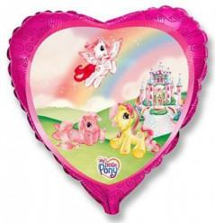 Balão Foil Coração My Little Pony 45cm