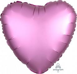 """Balão Foil Coração Rosa Flamingo 18"""""""