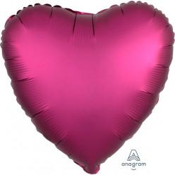 """Balão Foil Coração Rosa Fúscia Metalizado 19"""""""