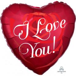 Balão Foil Coração Rosa I Love You 43cm