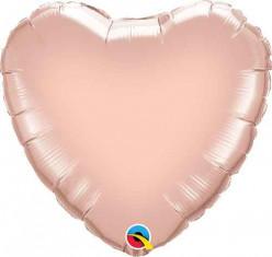 Balão Foil Coração Rose Gold