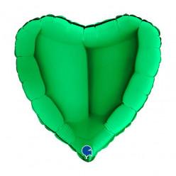 Balão Foil Coração Verde 46cm