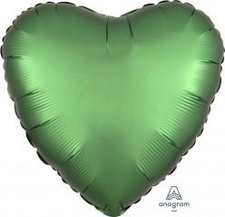 Balão Foil Coração Verde Esmeralda Acetinado 43cm