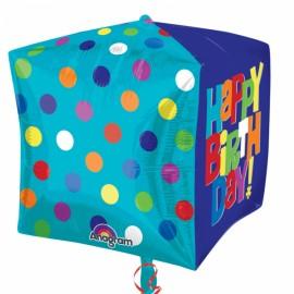 Balão Foil Cubo Feliz Aniversário