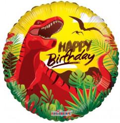 Balão Foil Dinossauro Happy Birthday 45cm