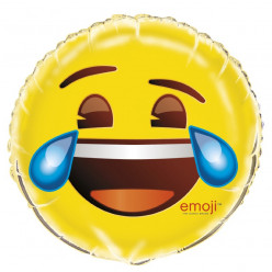 """Balão Foil Emoji Chorar de Rir 18"""""""
