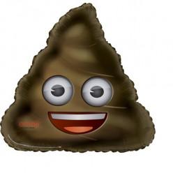 """Balão Foil Emoji Poop 32"""""""