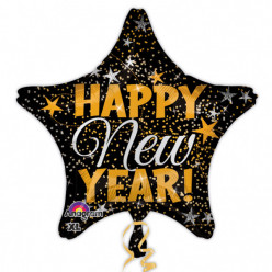 Balão Foil Estrela Happy New Year 48cm