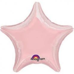 Balão Foil Estrela Rose Pastel  48cm