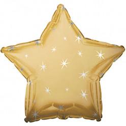 Balão Foil Estrela Sparkle Dourado