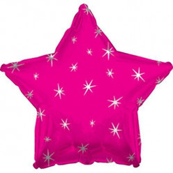 Balão Foil Estrela Sparkle Rosa