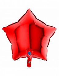 Balão Foil Estrela Vermelho 46cm