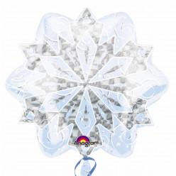Balão Foil Floco Neve Holográfico 45cm