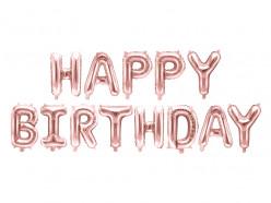 Balão Foil Happy Birthday Rose Gold