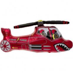 Balão Foil Helicóptero Vermelho 91cm
