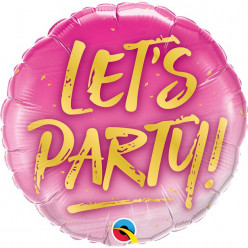 Balão Foil Lets Party 46cm