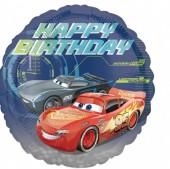 Balão Foil metálico Cars Disney - Happy Birthday