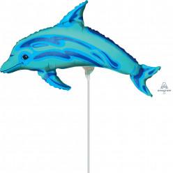 Balão Foil Mini Shape Golfinho 20cm