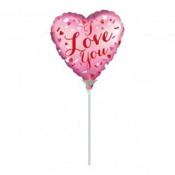 Balão Foil Mini Shape I Love You
