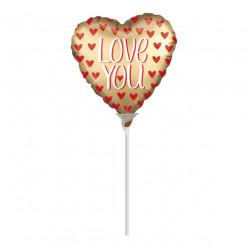 Balão Foil Mini Shape Love You