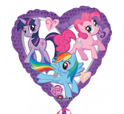 Balão Foil My Little Pony Heart 45cm
