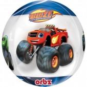 Balão Foil Orbz 4 faces Blaze and Monster Machines