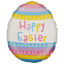Balão Foil Ovo Páscoa Happy Easter 46cm