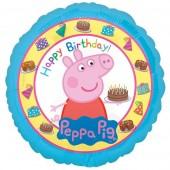 Balão Foil Peppa de 45cm - Happy  Birthday