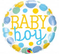 Balão Foil Redondo Baby Boy 46cm