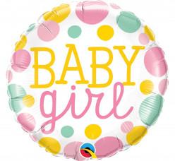 Balão Foil Redondo Baby Girl 46cm